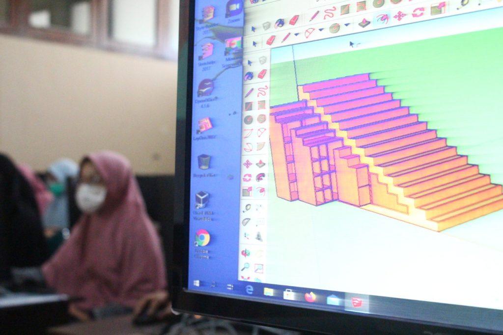 siswa sma assalaam belajar jadi arsitek