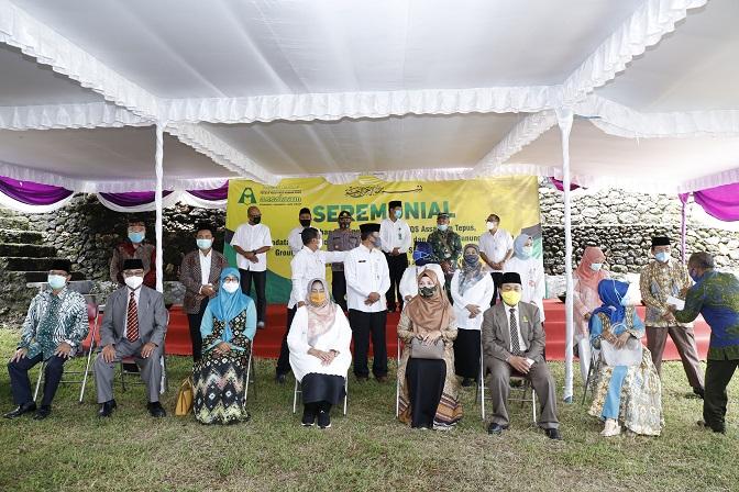 Suasana Peresmian SMP TQS Assalaam Tepus, Gunung Kidul