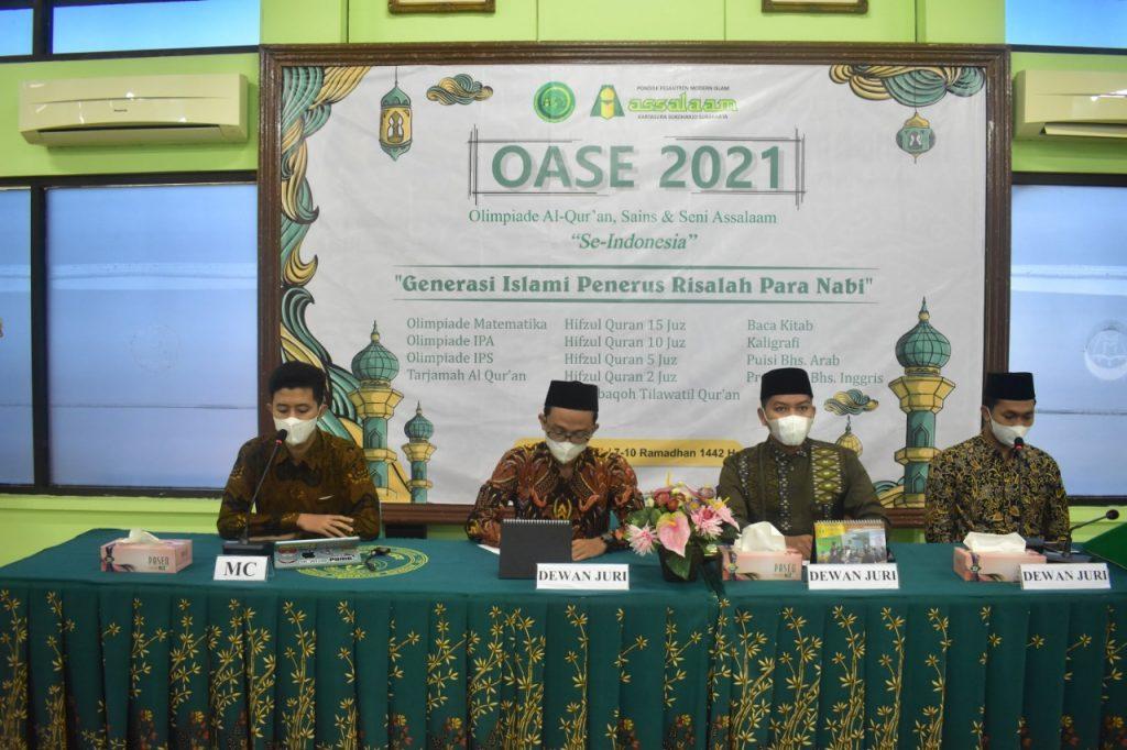 Di ikuti 486 Peserta, Olimpiade Al-Qur'an, Sains dan Seni Nasional dilaksanakan Pondok Pesantren Assalaam