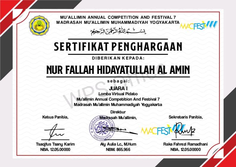 Santri MTs Pondok Pesantren Modern Islam Assalaam Kembali Raih Juara