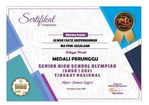 Santri Assalaam Raih Perunggu dalam Olimpiade Bahasa Inggris Nasional