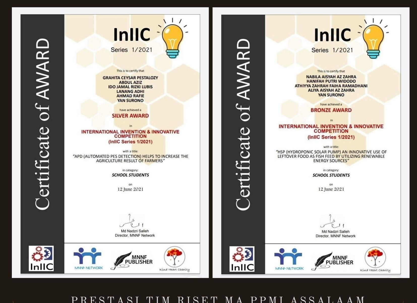 Santri Pondok Pesantren Assalaam Raih 2 (Dua) Medali Dalam Kejuaraan International