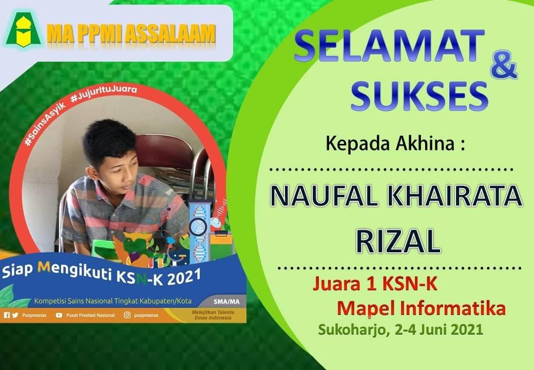 Santri MA PPMI Assalaam Lolos Kompetensi Sains Nasional Tingkat Kabupaten/Kota (KSN-K) 2021