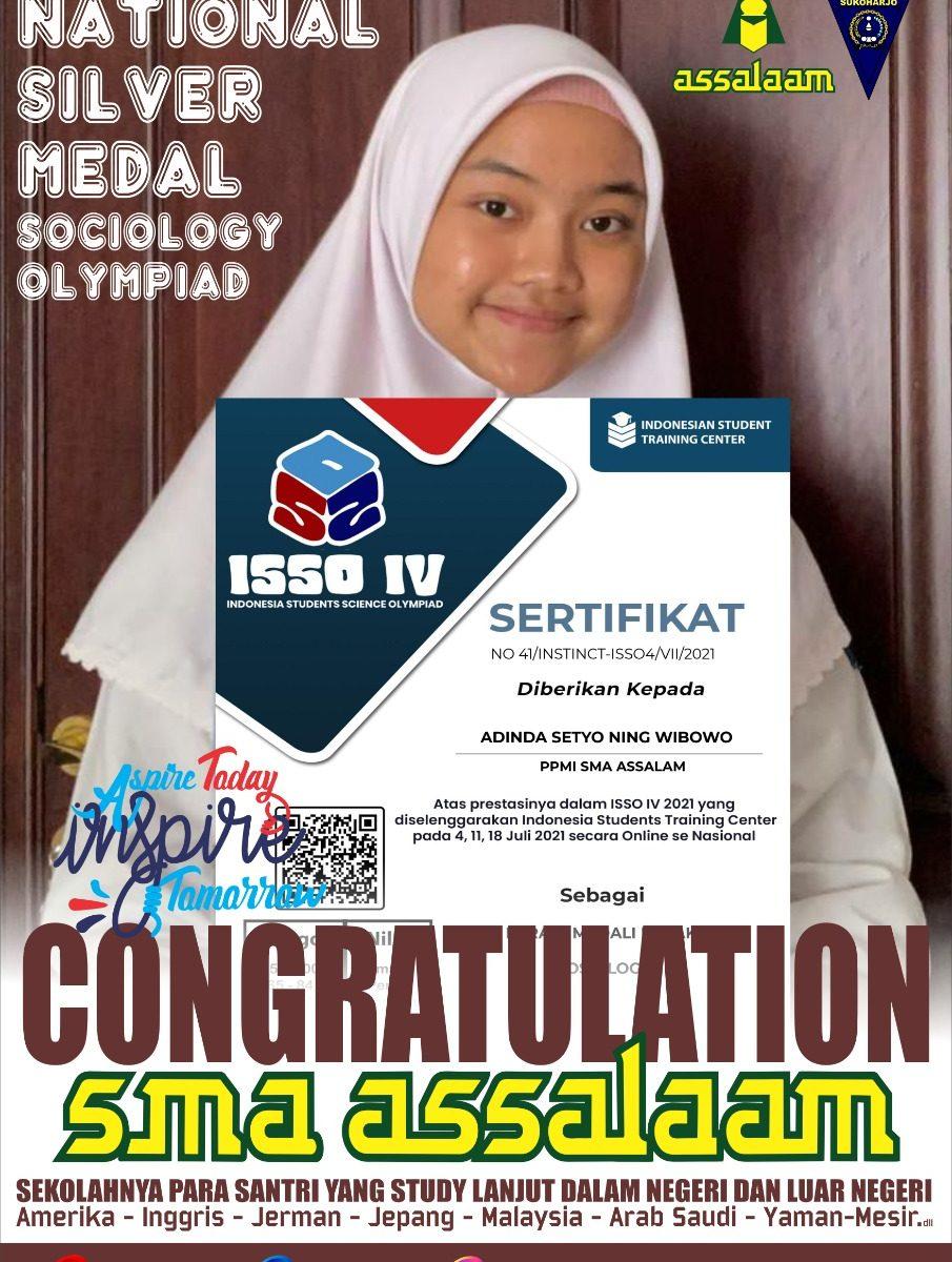 Santriwati Assalaam Raih Medali Perak dalam Indonesia Student Sains Olympiad IV 2021