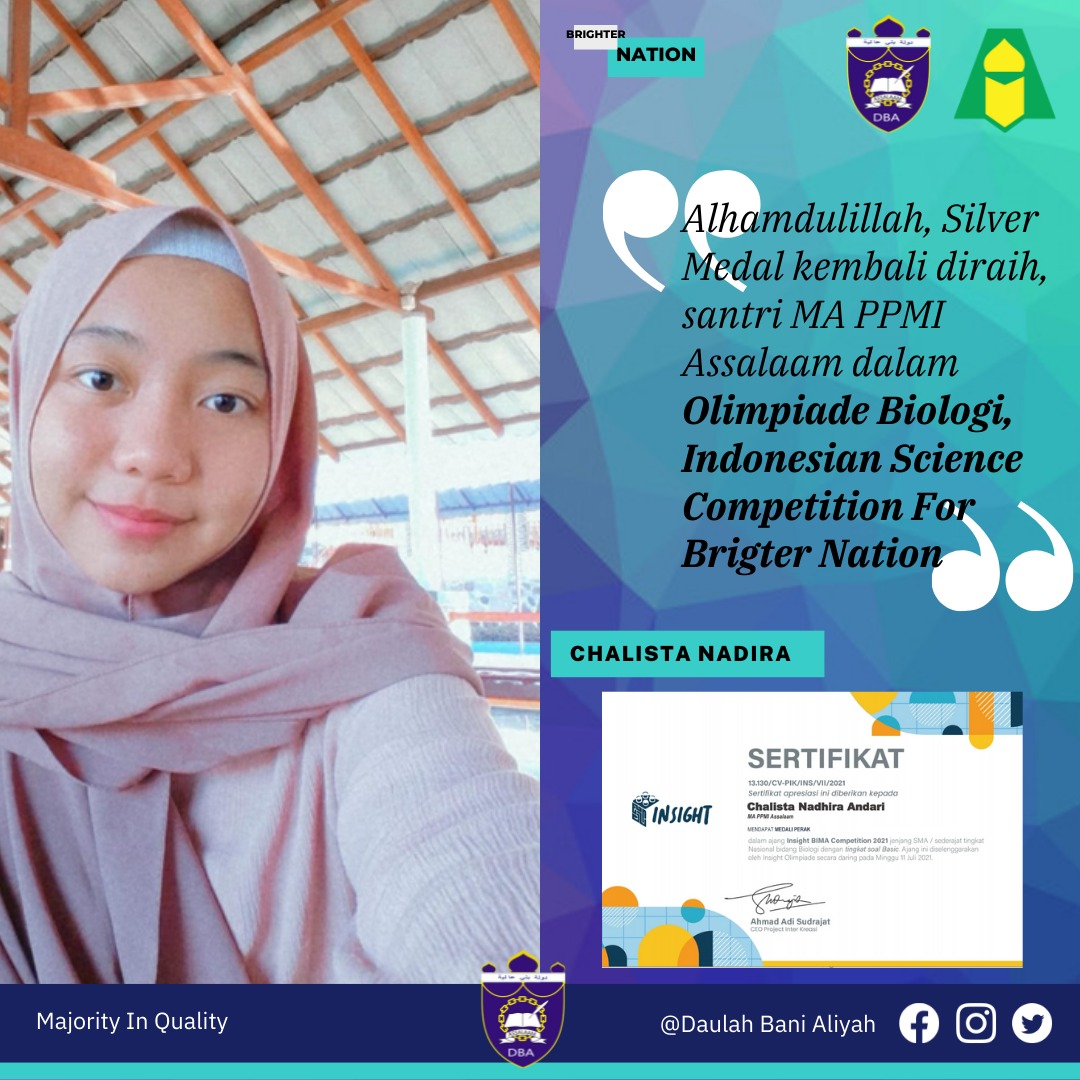 Santri MA PPMI Assalaam kembali raih Medali dalam Indonesian Science Competition For Brighter Nation 2021